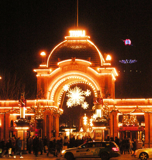 Danish Christmas market at Tivoli in Copenhagen